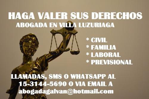 abogada civil-laboral-previsional-familia en villa luzuriaga
