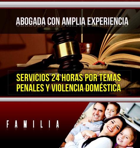 abogada con amplia experiencia, penal,  familia, desalojos