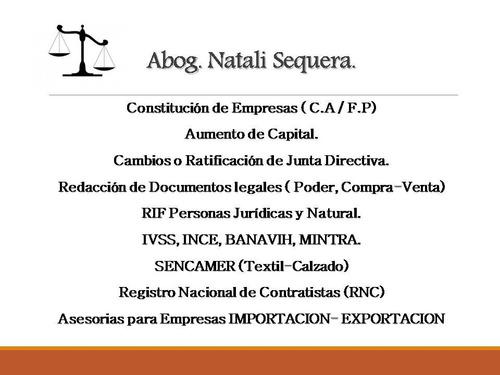 abogado. constitucion de empresas, tramites en general