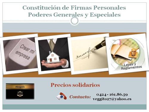 abogado. elaboración y visado de documentos varios