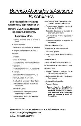 abogado experiencia civil, notarial, registral, inmobiliario
