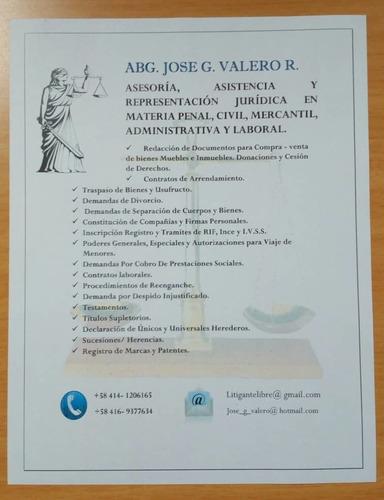 abogado josé g valero,penal,civil,mercantil, administrativa