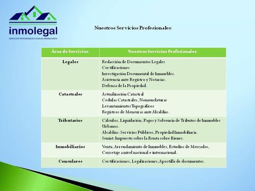 abogado tramites judiciales registros catastro, zulia falcon