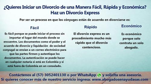 abogados de sucesiones y divorcios express económicos