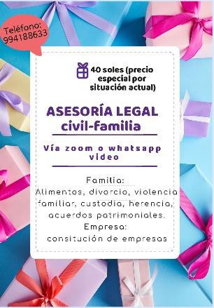 abogados especialistas (familia, negocios)  994188633