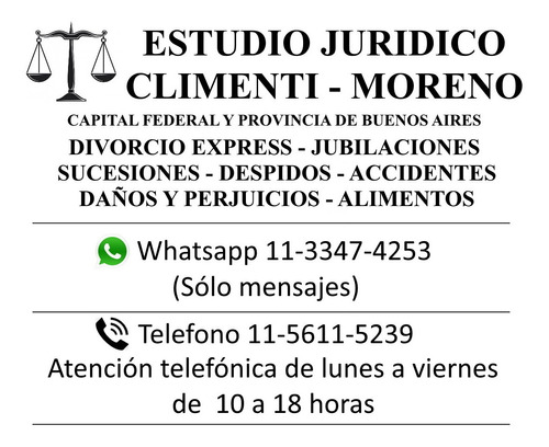 abogados. estudio juridico integral climenti & moreno