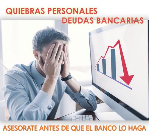 abogados - quiebras personales - deudas bancarias - tarjetas