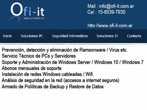 abonos soporte pc servidores redes windows wifi lexdoctor