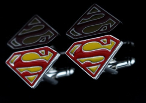 abotoadura  superman superhomem de metal geek nerd
