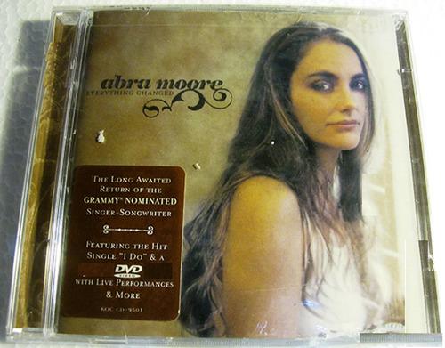 abra moore - everything changed (i do) cd + dvd , importado