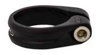 abraçadeira de canote do selim gta 31.8mm preta com parafuso