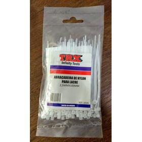 Abraçadeira De Nylon -trx- Transparente-pct C/100- 2,5x100mm