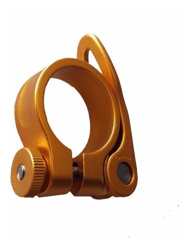 abraçadeira de selim tsw 34.9mm dourada