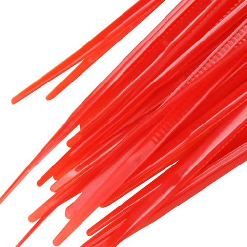 abraçadeira nylon 2,5x100 vermelho c/100