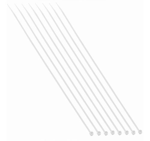 abraçadeira nylon branca 4,8mmx400mm c/100 unidades brasfort