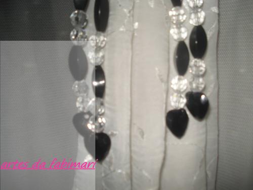 abraçadeiras para cortina (par) - coração preto