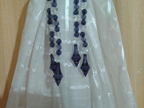 abraçadeiras para cortina roxa(par)