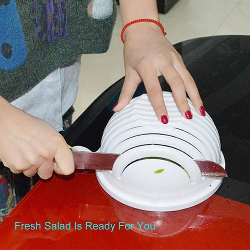 abramz ensalada cutter bowl cortador de verdu + envio gratis