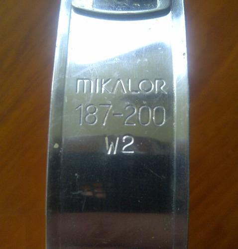 abrazadera con perno mikalor 187-200 mm w2