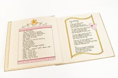 abrazos y besos de xo bebé libro de la memoria flores niña