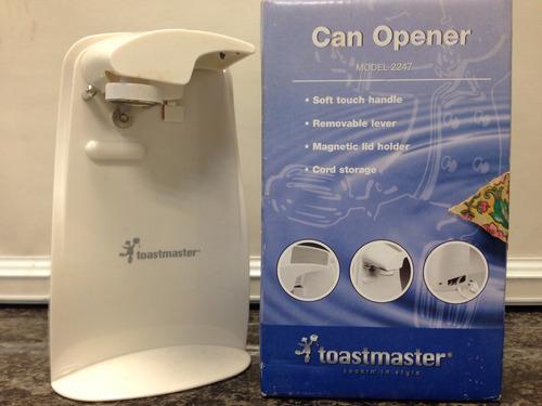 abre lata eléctrico toastmaster modelo 2247 estado impecable