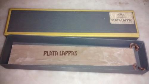 abrecartas vintage plata lappas nuevo estuche original