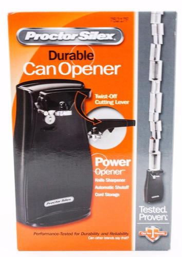 abrelatas durable eléctrico proctor silex modelo 75217f