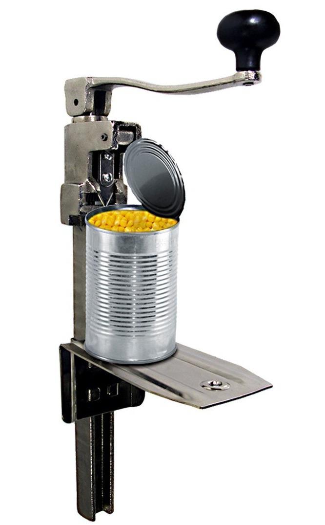 abrelatas industrial de uso manual para restaurante cocina