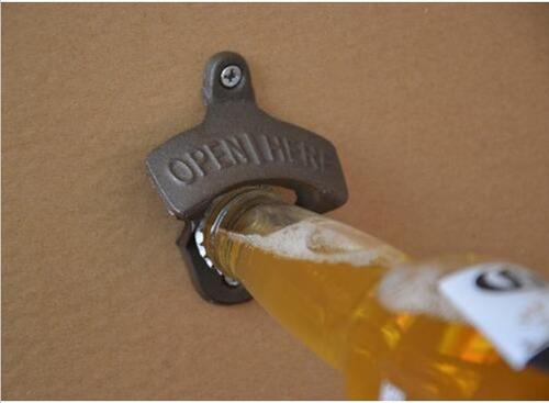 abresodas destapador de pared hierro metálico bar retro