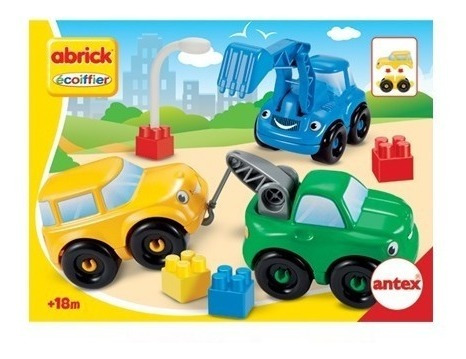 abrick 9042 set x 3 vehiculos construccion grua antex educan