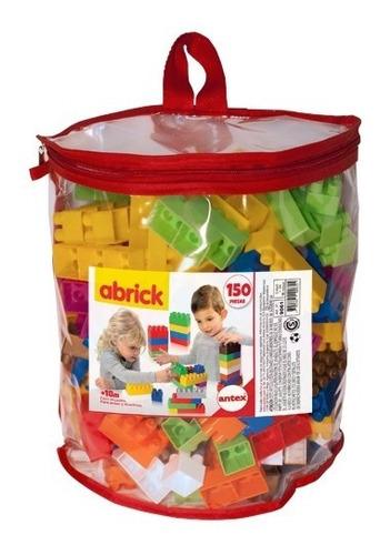 abrick ladrillos bloques construccion 150 piezas bolso antex