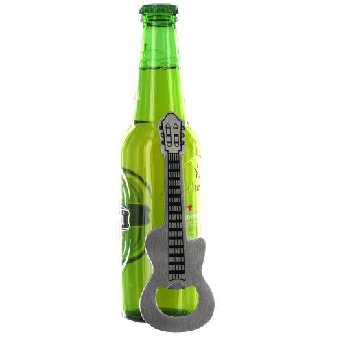 abridor de botella en forma de guitarra