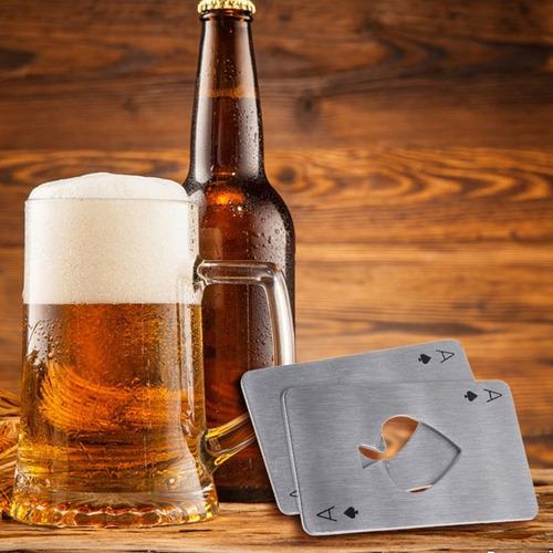 abridor de garrafa carta baralho poker em inox cerveja