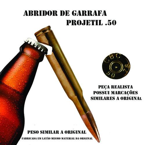 abridor de garrafa munição ponto 50 - militar