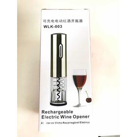 Abridor De Vinho Elétrico Carregáveis Wlk-003 Inox