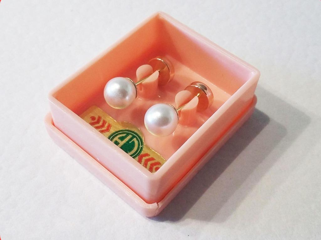 2c696bbf3f94 abridores enchapados perno oro 18k perla símil 5mm garantía. Cargando zoom.