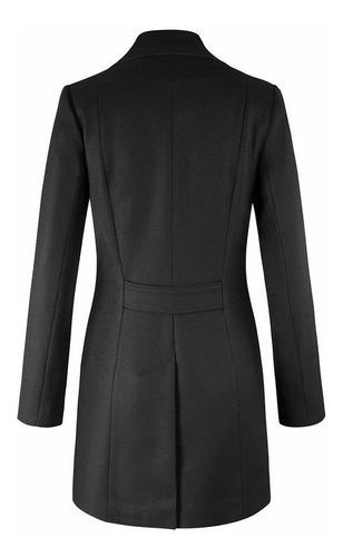 abrigo andre badi dama mujer negro modelo 0007