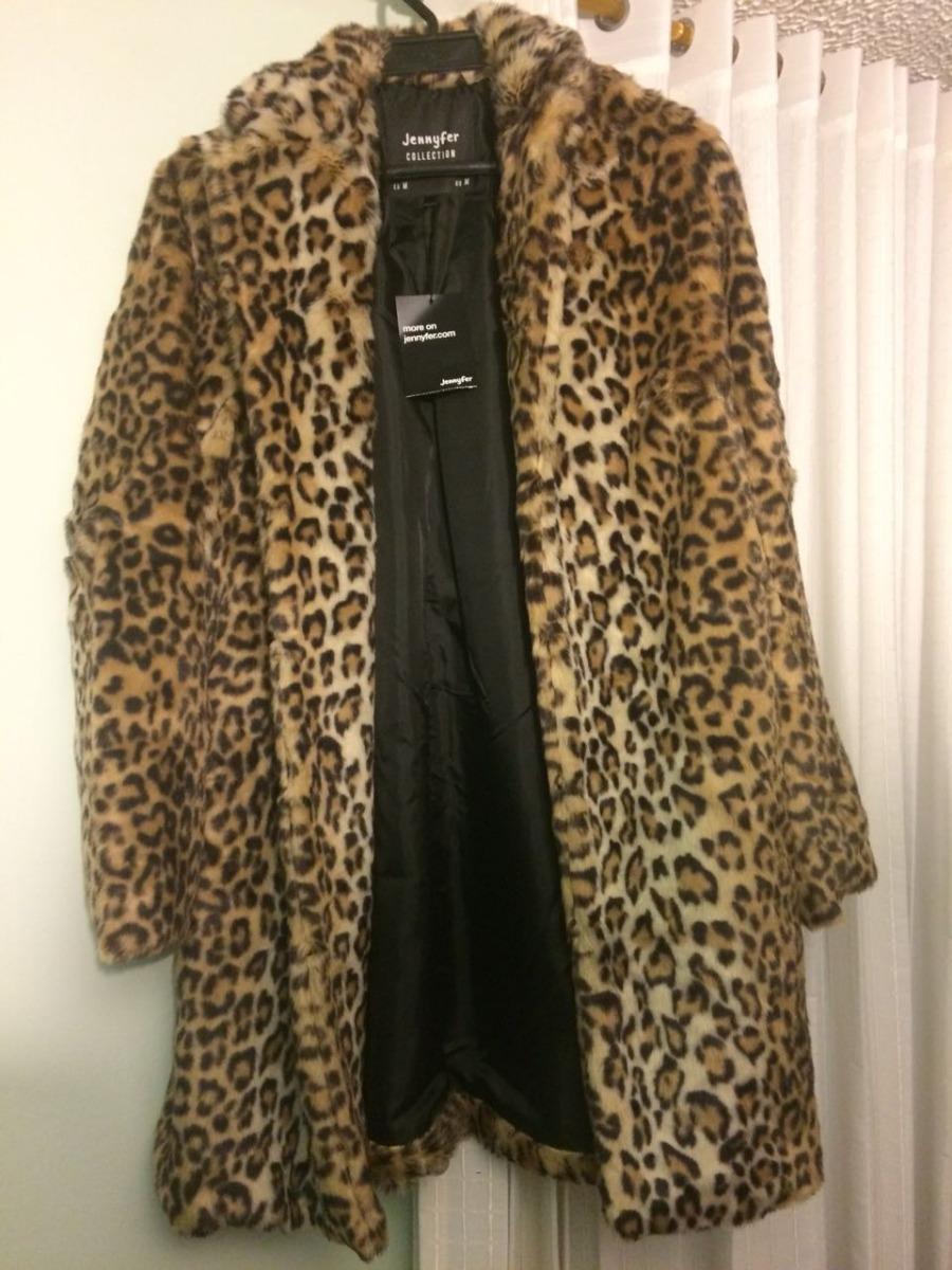 Abrigo de piel de leopardo
