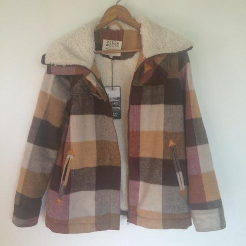 abrigo billabong talla m nuevo forrado en chiporro