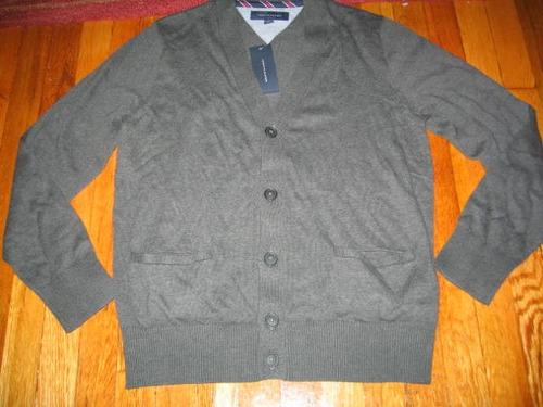 abrigo cardigan tommy hilfiger gris hombre large ( 189 )