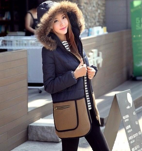 Abrigo Chamarra Con Gorro Moda Asiatica Coreana Invierno ... d8f43e4aa58