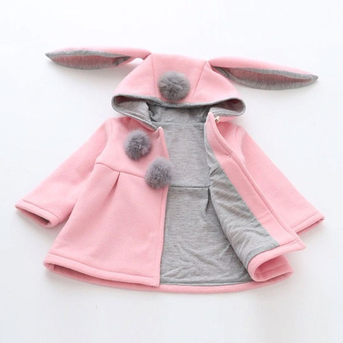 abrigo chamarra de niño niña modelo conejo calientito #27