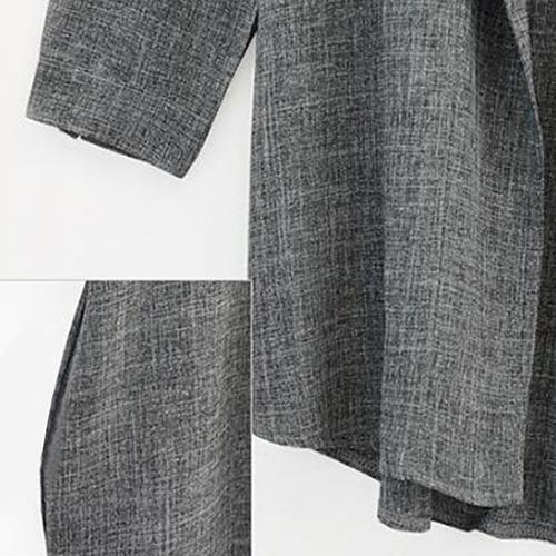 abrigo chaqueta rompeviento holgado de largo medio para dama