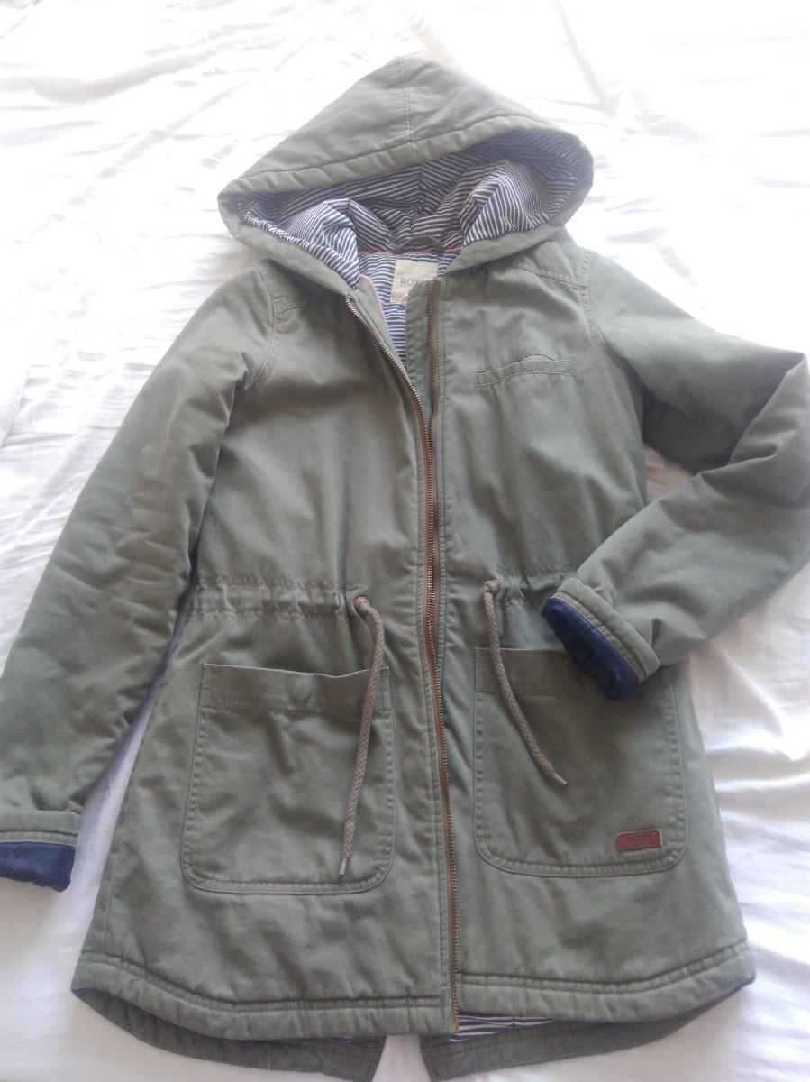9d7a8426a4c Abrigo Chaqueta Roxy Xs Verde Militar -   20.000 en Mercado Libre