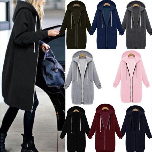 abrigo con capucha invierno mujer de manga larga s-5xl