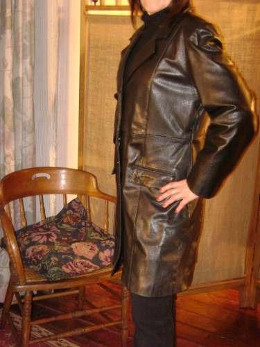 abrigo cuero mujer indu.
