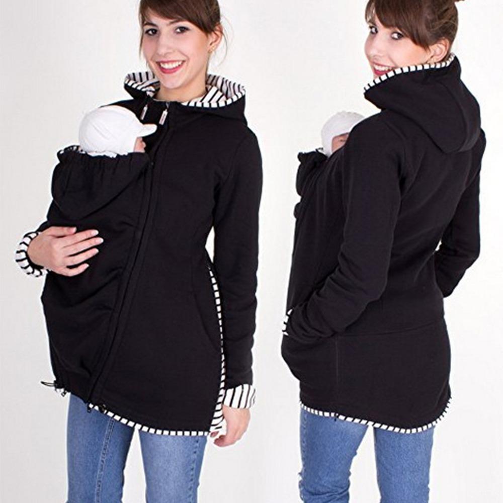 8eb7f6b4a abrigo de chaqueta mujer con capucha canguro maternidad 3 en. Cargando zoom.