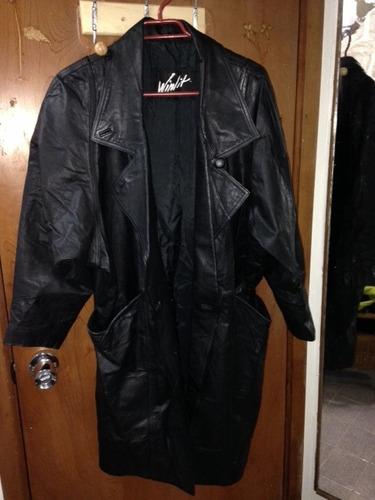 abrigo de cuero traido de usa impecable