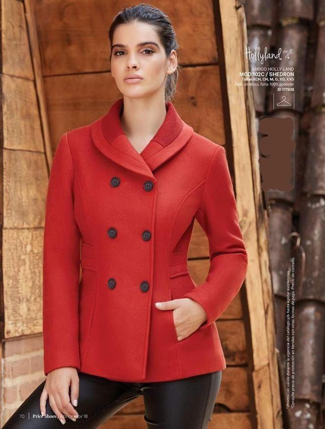 Abrigos de color rojo