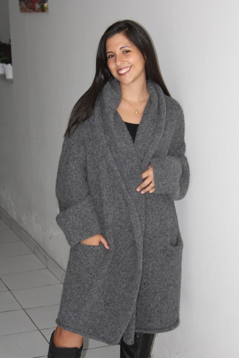 Abrigos tejidos de lana para mujer